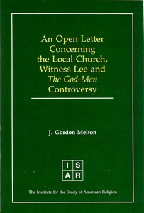 J. Gordon Melton's Open Letter